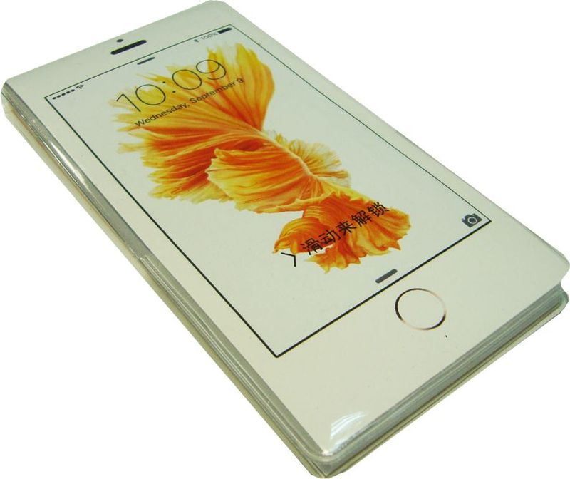Карамба Блокнот Телефон белый Цветок 50 листов в линейку
