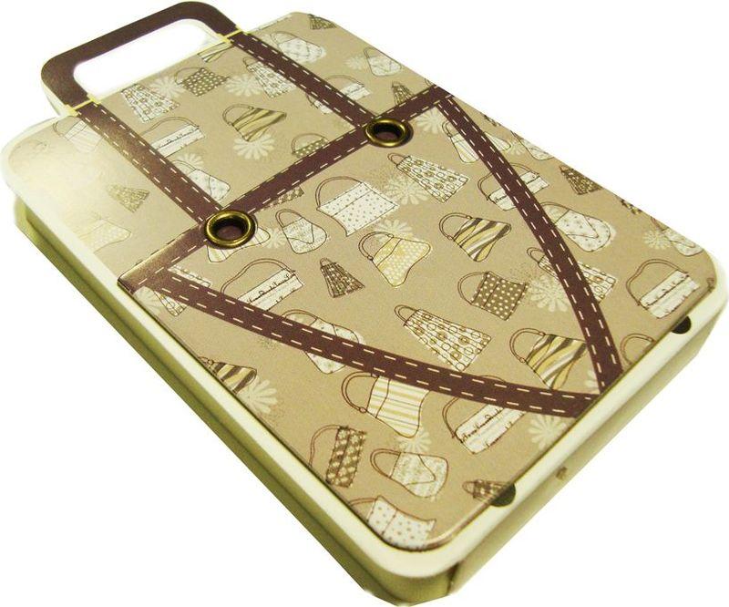 Карамба Блокнот Чемодан бежевый с рисунком сумки 110 листов
