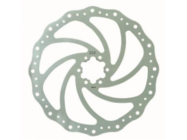 Тормозной диск Bike Attitude YJ014 180 мм, крепление: 6 болтовDBRD-YJ014-BA02Тормозной диск 180 мм из высокопрочной термостойкой стали со специальным рисунком для лучшего охлаждения диска и очищения тормозных колодок от грязи. Особая форма диска предотвращает неприятный звук, появляющийся при намокании колодок и диска. Диск легко устанавливается в стандартные места крепления на втулке под 6 болтов (они идут в комплекте). При установке диска внимательно ознакомьтесь с инструкцией и обратите внимание на сторону вращения (она помечена стрелкой на диске).• Диаметр диска 180 мм• Стандартное крепление по 6 болтов• 6 новых болтов в комплектеBIKE ATTITUDE – это крупнейший Тайваньский производитель высококачественных велосипедных аксессуаров и запчастей. Уже более 10-и лет Bike Attitude представляет свои товары в 15 странах мира.