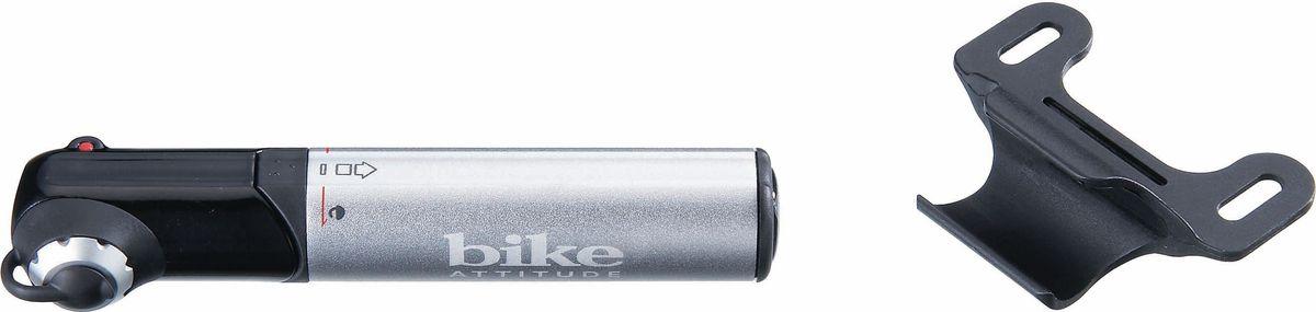 Насос велосипедный Bike Attitude GM42, ручной, цвет: черный, серый замок велосипедный bike attitude cable lock w bracket