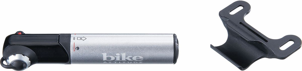 Насос велосипедный Bike Attitude GM42, ручной, цвет: черный, серый jeazea motorcycle cnc anti fall brake clutch levers handguard hand grips handle bar protector for bike harley atv dirt bike