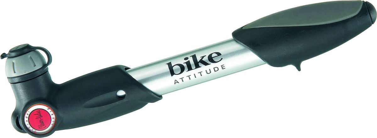 Насос велосипедный Bike Attitude GP23, ручной, цвет: черный насос велосипедный stg gp 46l ручной