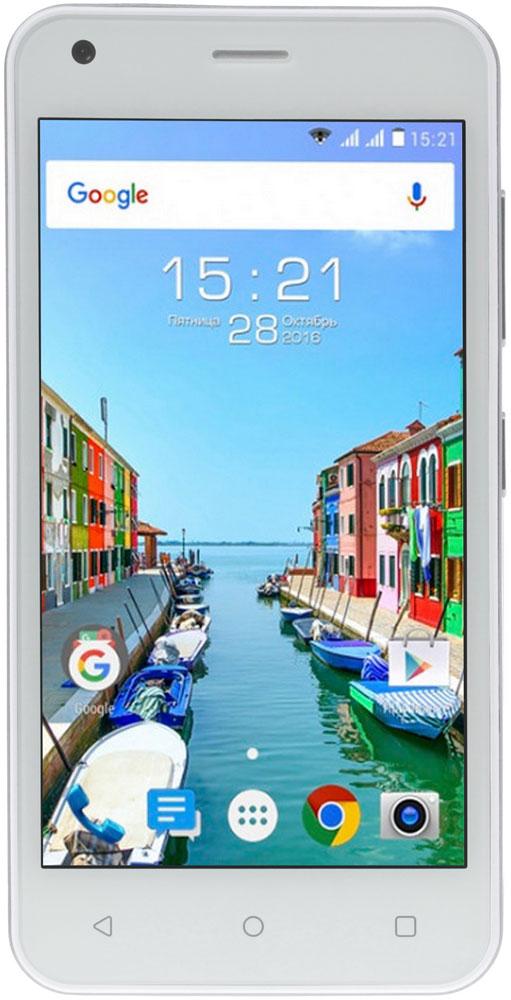 Fly Nimbus 11 FS455, White9888Fly Nimbus 11 FS455 - смартфон, который создан для тех, кому важна легкость в управлении и современные технологии.Поддержка 4G LTE гарантирует высокую скорость передачи данных в любой точке мира. Традиционно смартфон оснащён 2 слотами под SIM-карты. Комбинируйте лучшие тарифы для личных и рабочих целей. Модули GPS и A-GPS позволяют увеличивать точность и надежность определения местоположения.Тонкий компактный корпус с небольшим экраном 4.5 и пропорциональным соотношением сторон комфортно располагается в ладони, позволяя управлять устройством одной рукой. Безупречное качество сборки принесет максимальное удовольствие при работе со смартфоном.Fly Nimbus 11 приятно удивит своей производительностью даже самых активных пользователей. Четырехъядерная архитектура процессора обеспечивает слаженную работу всего устройства и даёт мгновенный отклик на все поступающие запросы. Мощный процессор MT6737M и 1 ГБ оперативной памяти позволяют смартфону эффективно справляться с работой ресурсоёмких приложений.Данная модель станет незаменимым помощником в создании памятных фотографий. Камера c разрешением 5 Мпикс оснащена автофокусом, вспышкой и цифровым зумом, благодаря чему снимки получаются чёткими и яркими независимо от условий съёмки. Фронтальная камера с разрешением 2 Мпикс позволяет устраивать онлайн трансляции с друзьями и близкими.Батарея ёмкостью 1700 мАч в сочетании с энергоэффективной операционной системой позволит вам не беспокоиться о постоянной подзарядке смартфона: Fly Nimbus 11 уверенно работает до 150 часов в режиме ожидания, до 6 часов в режиме беспрерывного разговора и до 4 часов в режиме подключения к Wi-Fi.Современная ОС Android 6.0 позволит вам прочувствовать все преимущества системы и работать с контентом на интуитивном уровне.Телефон сертифицирован EAC и имеет русифицированный интерфейс меню и Руководство пользователя.