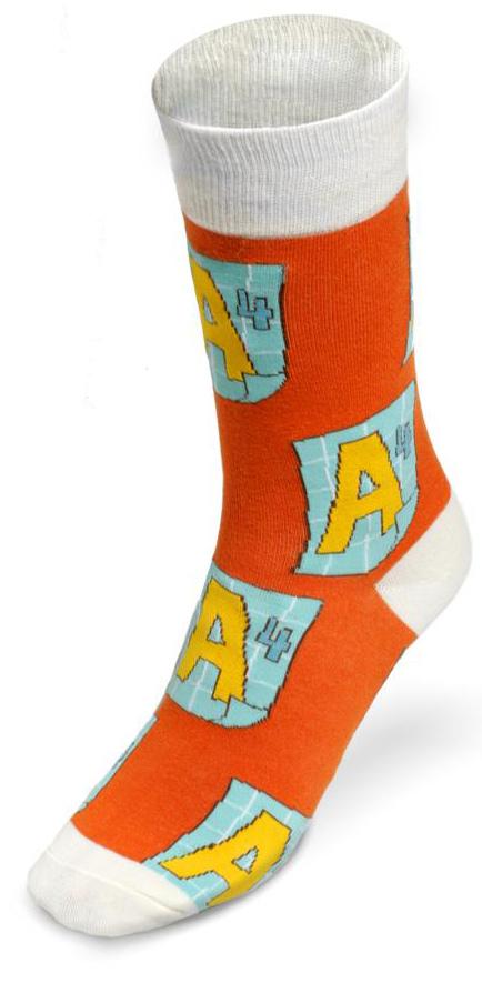 Носки унисекс ВсеРадости А4, цвет: оранжевый, белый. 172011. Размер 36/43172011Яркие носки ВсеРадости добавляют позитива в настроение и подчеркивают неповторимый стиль своего владельца. Носочки на каждый день и случай жизни.