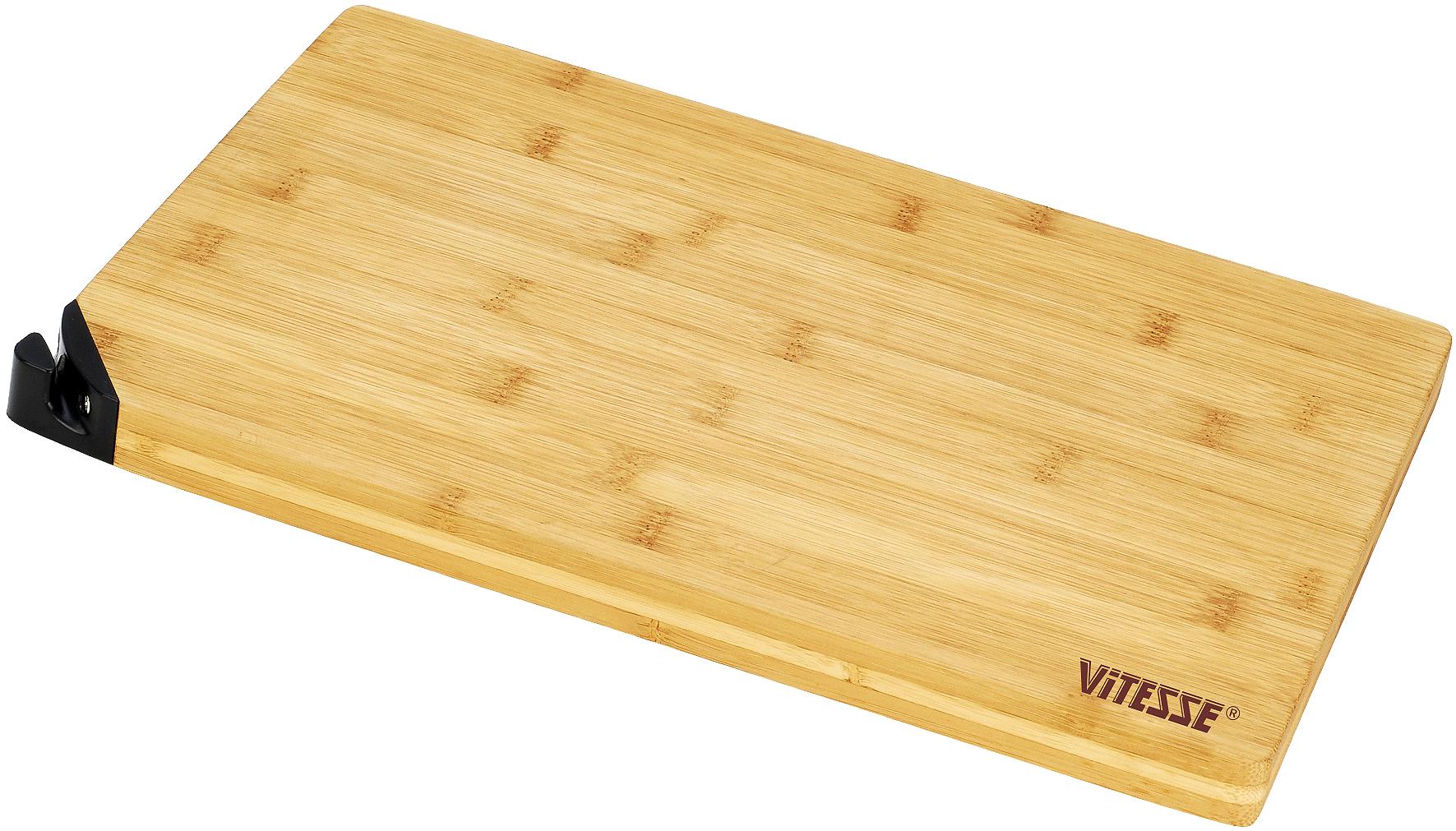 Доска разделочная Vitesse, со встроенной точилкой для ножа, 30 х 20 см ваза mughal l 20 х 20 х 30 см