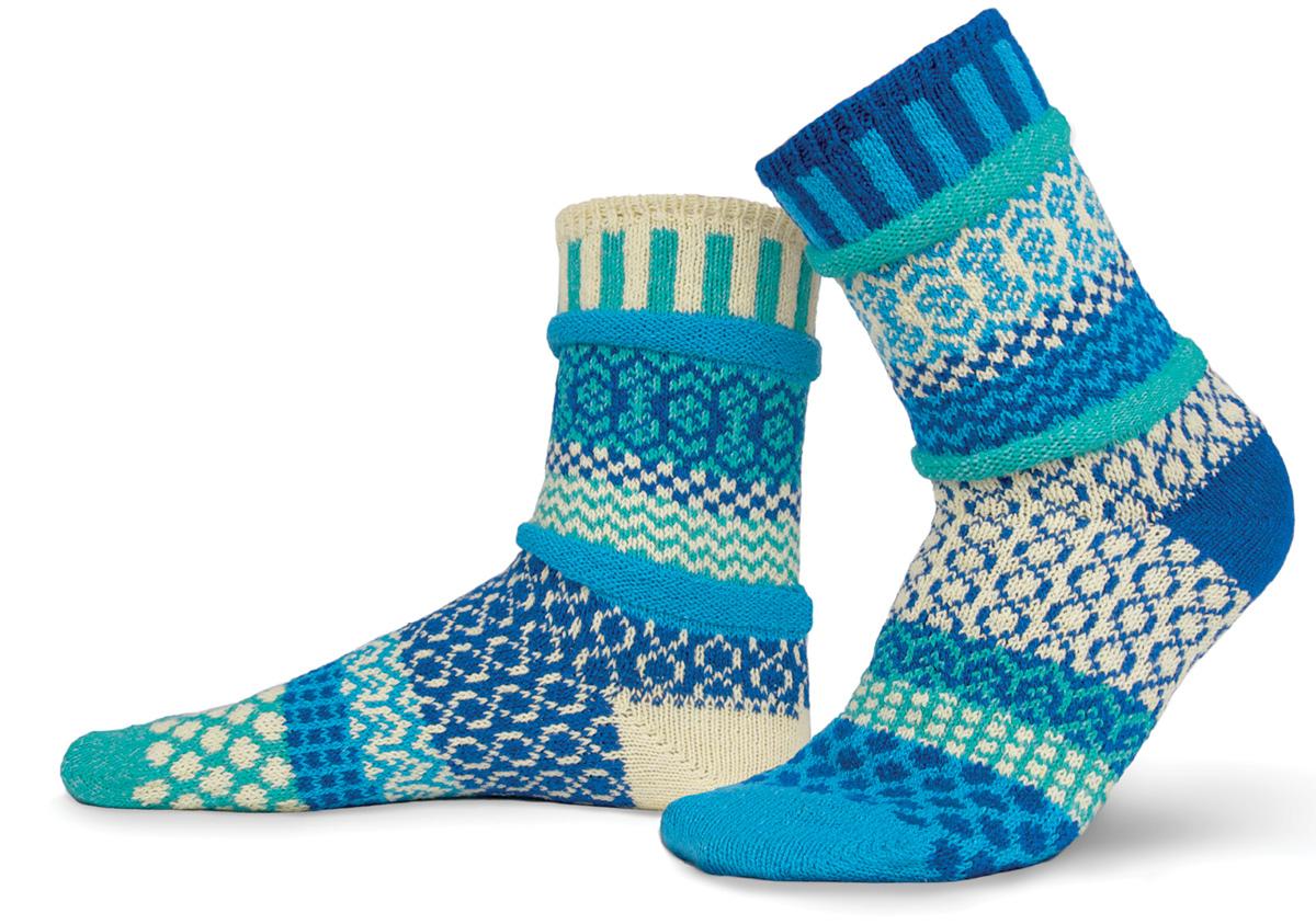Носки Solmate Socks Zephyr, цвет: синий, голубой. 171981. Размер 35/37171915/171914/171981Носки выполнены из высококачественного материала. Резинка не сдавливает и комфортно облегает ногу. Укрепленная пятка и носок делают их прочными, приятными и износостойкими.Идеальное сочетание практичности, легкости и комфорта.