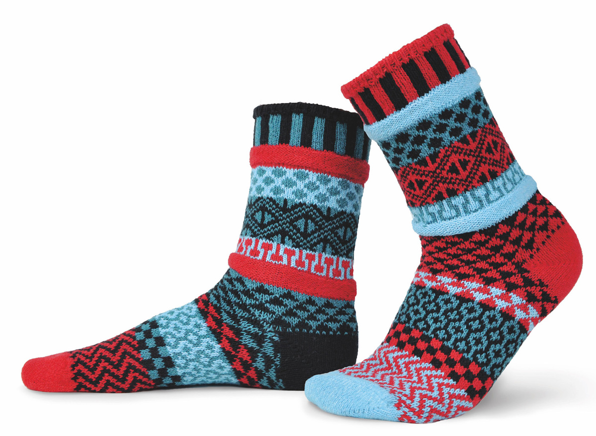 Носки Solmate Socks Mars, цвет: синий, бордовый. 171970. Размер 41/43