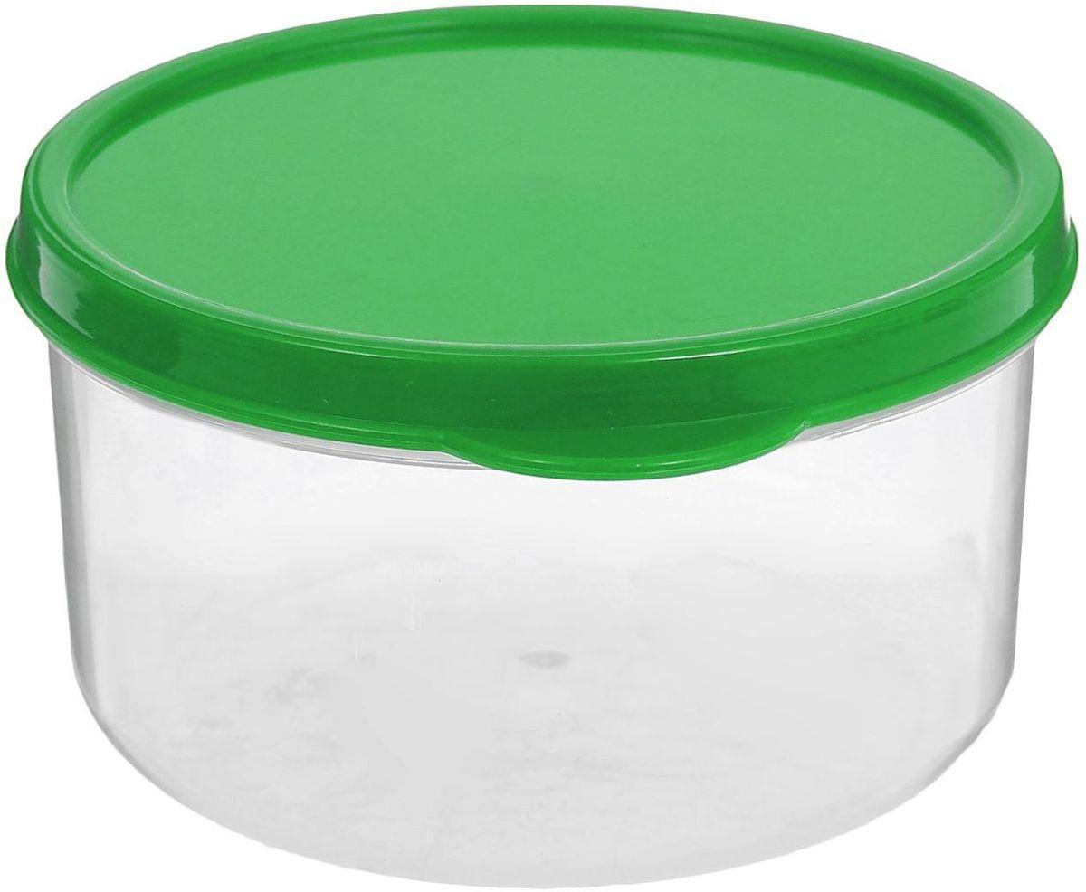 Контейнер пищевой Доляна, круглый, цвет: зеленый, 300 мл161183-039Если после вкусного обеда осталась еда, а насладиться трапезой хочется и на следующий день, контейнер станет отличным решением данной проблемы!В качестве материала для изготовления используется пластик, что делает процесс ухода за контейнером ещё более эффективным. К контейнеру в комплекте также прилагается крышка подходящего размера, это позволяет плотно и надёжно удерживать запах еды и упрощает процесс транспортировки. Эргономичный дизайн и многофункциональность контейнера Доляна - вот, что является причиной большой популярности данного предмета у каждой хозяйки.