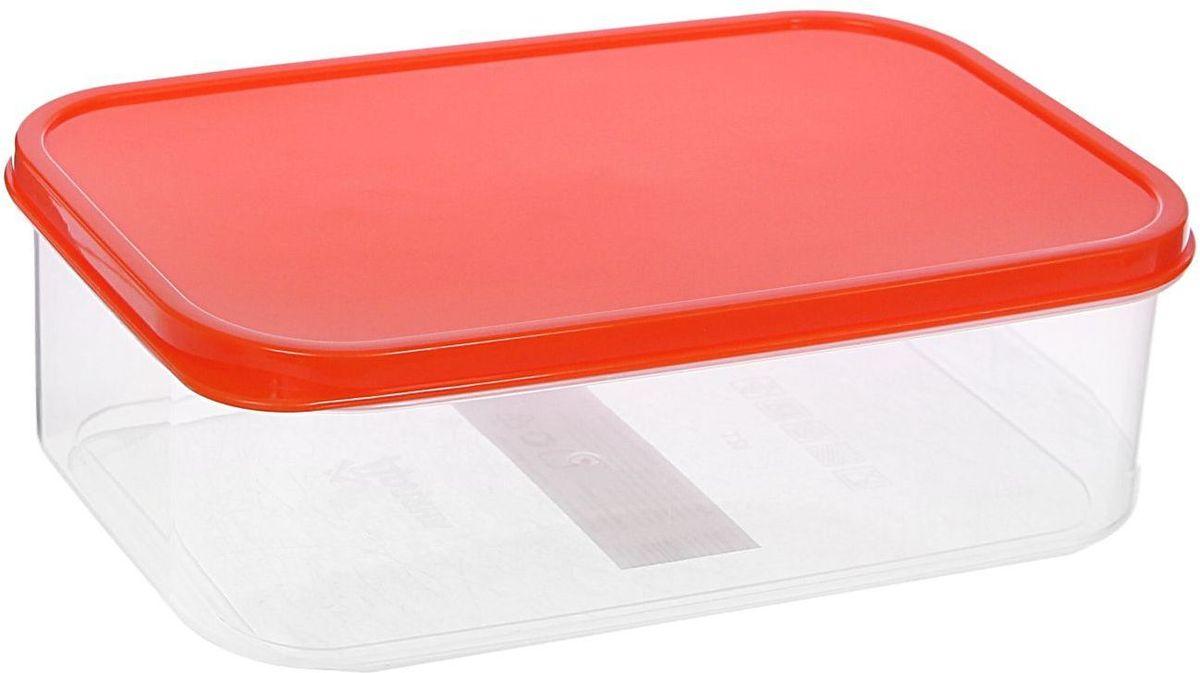 """Контейнер пищевой """"Доляна"""", цвет: оранжевый, 1,2 л"""