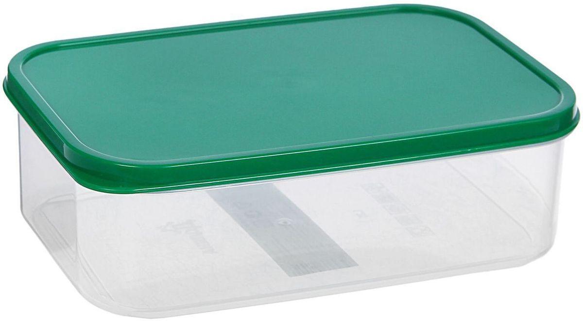 Контейнер пищевой Доляна, цвет: зеленый, 1,2 лПЦ2370ЛМЕсли после вкусного обеда осталась еда, а насладиться трапезой хочется и на следующий день, контейнер станет отличным решением данной проблемы!В качестве материала для изготовления используется пластик, что делает процесс ухода за контейнером ещё более эффективным. К контейнеру в комплекте также прилагается крышка подходящего размера, это позволяет плотно и надёжно удерживать запах еды и упрощает процесс транспортировки. Эргономичный дизайн и многофункциональность контейнера Доляна - вот, что является причиной большой популярности данного предмета у каждой хозяйки.