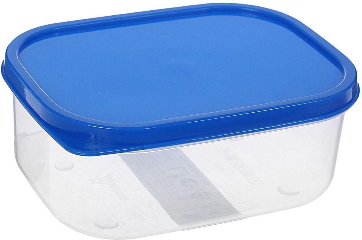 Контейнер пищевой Доляна, цвет: синий, 500 мл1333829Если после вкусного обеда осталась еда, а насладиться трапезой хочется и на следующий день, ланч-бокс станет отличным решением данной проблемы! Такой контейнер является незаменимым предметом кухонной утвари, ведь у него много преимуществ: Простота ухода. Ланч-бокс достаточно промыть тёплой водой с небольшим количеством чистящего средства, и он снова готов к использованию. Вместительность. Большой выбор форм и объёма поможет разместить разнообразные продукты от сахара до супов. Эргономичность. Ланч-боксы очень легко хранить даже в самой маленькой кухне, так как их можно поставить один в другой по принципу матрёшки. Многофункциональность. Разнообразие цветов и форм делает возможным использование контейнеров не только на кухне, но и в других областях домашнего быта. Любители приготовления обеда на всю семью в большинстве случаев приобретают ланч-боксы наборами, так как это позволяет рассортировать продукты по всевозможным признакам. К тому же контейнеры среднего размера станут незаменимыми помощниками на работе: ведь что может быть приятнее, чем порадовать себя во время обеда прекрасной едой, заботливо сохранённой в контейнере? В качестве материала для изготовления используется пластик, что делает процесс ухода за контейнером ещё более эффективным. К каждому ланч-боксу в комплекте также прилагается крышка подходящего размера, это позволяет плотно и надёжно удерживать запах еды и упрощает процесс транспортировки. Однако рекомендуется соблюдать и меры предосторожности: не использовать пластиковые контейнеры в духовых шкафах и на открытом огне, а также не разогревать в микроволновых печах при закрытой крышке ланч-бокса. Соблюдение мер безопасности позволит продлить срок эксплуатации и сохранить отличный внешний вид изделия. Эргономичный дизайн и многофункциональность таких контейнеров — вот, что является причиной большой популярности данного предмета у каждой хозяйки. А в преддверии лета и дачного сезона такое приобретен