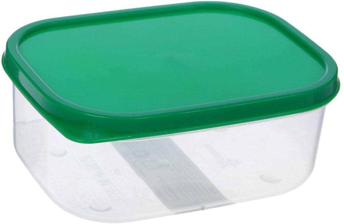 Контейнер пищевой Доляна, цвет: зеленый, 500 мл1333831Если после вкусного обеда осталась еда, а насладиться трапезой хочется и на следующий день, контейнер станет отличным решением данной проблемы!В качестве материала для изготовления используется пластик, что делает процесс ухода за контейнером ещё более эффективным. К контейнеру в комплекте также прилагается крышка подходящего размера, это позволяет плотно и надёжно удерживать запах еды и упрощает процесс транспортировки. Эргономичный дизайн и многофункциональность контейнера Доляна - вот, что является причиной большой популярности данного предмета у каждой хозяйки.