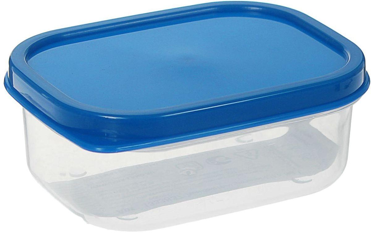 """Контейнер пищевой """"Доляна"""", цвет: синий, 150 мл"""