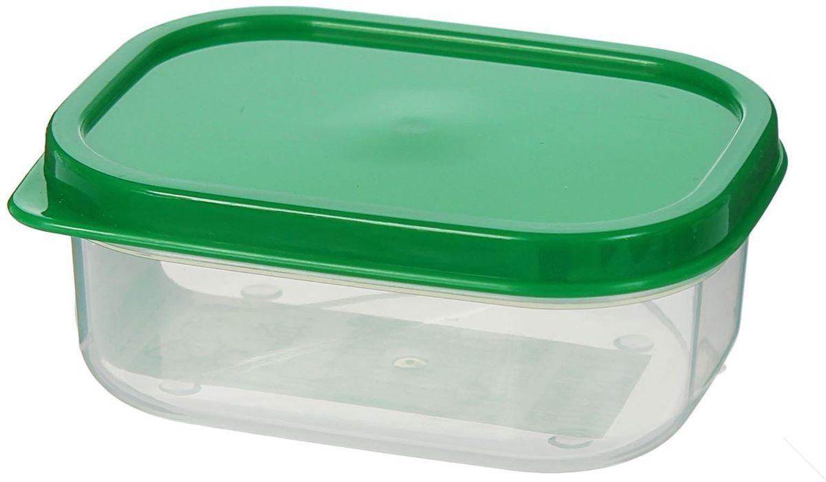 Контейнер пищевой Доляна, цвет: зеленый, 150 мл1333839Если после вкусного обеда осталась еда, а насладиться трапезой хочется и на следующий день, контейнер станет отличным решением данной проблемы!В качестве материала для изготовления используется пластик, что делает процесс ухода за контейнером ещё более эффективным. К контейнеру в комплекте также прилагается крышка подходящего размера, это позволяет плотно и надёжно удерживать запах еды и упрощает процесс транспортировки. Эргономичный дизайн и многофункциональность контейнера Доляна - вот, что является причиной большой популярности данного предмета у каждой хозяйки.
