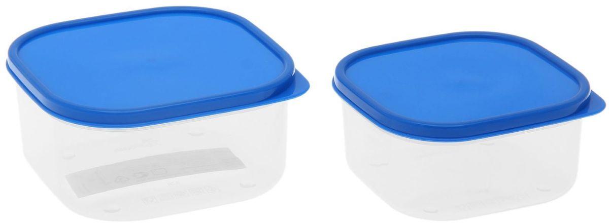 Набор пищевых контейнеров Доляна, цвет: голубой, 2 шт1333874Если после вкусного обеда осталась еда, а насладиться трапезой хочется и на следующий день, ланч-бокс станет отличным решением данной проблемы!Такой контейнер является незаменимым предметом кухонной утвари, ведь у него много преимуществ:Простота ухода. Ланч-бокс достаточно промыть тёплой водой с небольшим количеством чистящего средства, и он снова готов к использованию.Вместительность. Большой выбор форм и объёма поможет разместить разнообразные продукты от сахара до супов.Эргономичность. Ланч-боксы очень легко хранить даже в самой маленькой кухне, так как их можно поставить один в другой по принципу матрёшки.Многофункциональность. Разнообразие цветов и форм делает возможным использование контейнеров не только на кухне, но и в других областях домашнего быта.Любители приготовления обеда на всю семью в большинстве случаев приобретают ланч-боксы наборами, так как это позволяет рассортировать продукты по всевозможным признакам. К тому же контейнеры среднего размера станут незаменимыми помощниками на работе: ведь что может быть приятнее, чем порадовать себя во время обеда прекрасной едой, заботливо сохранённой в контейнере?В качестве материала для изготовления используется пластик, что делает процесс ухода за контейнером ещё более эффективным. К каждому ланч-боксу в комплекте также прилагается крышка подходящего размера, это позволяет плотно и надёжно удерживать запах еды и упрощает процесс транспортировки.Однако рекомендуется соблюдать и меры предосторожности: не использовать пластиковые контейнеры в духовых шкафах и на открытом огне, а также не разогревать в микроволновых печах при закрытой крышке ланч-бокса. Соблюдение мер безопасности позволит продлить срок эксплуатации и сохранить отличный внешний вид изделия.Эргономичный дизайн и многофункциональность таких контейнеров — вот, что является причиной большой популярности данного предмета у каждой хозяйки. А в преддверии лета и дачного сезона такое приобретени