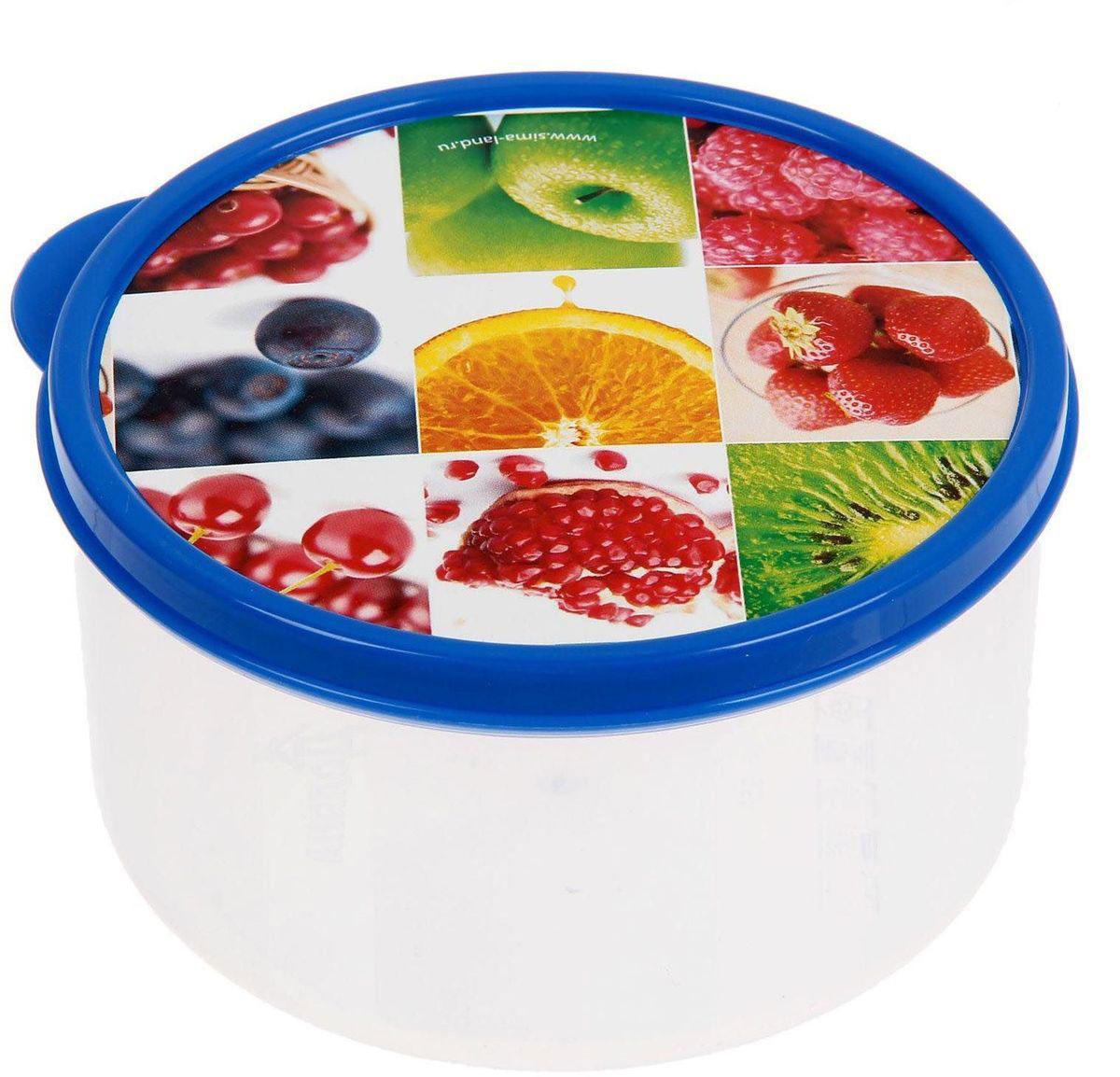 Ланч-бокс Доляна №1, круглый, 500 мл1333890Если после вкусного обеда осталась еда, а насладиться трапезой хочется и на следующий день, ланч-бокс станет отличным решением данной проблемы!Такой контейнер является незаменимым предметом кухонной утвари, ведь у него много преимуществ:Простота ухода. Ланч-бокс достаточно промыть тёплой водой с небольшим количеством чистящего средства, и он снова готов к использованию.Вместительность. Большой выбор форм и объёма поможет разместить разнообразные продукты от сахара до супов.Эргономичность. Ланч-боксы очень легко хранить даже в самой маленькой кухне, так как их можно поставить один в другой по принципу матрёшки.Многофункциональность. Разнообразие цветов и форм делает возможным использование контейнеров не только на кухне, но и в других областях домашнего быта.Любители приготовления обеда на всю семью в большинстве случаев приобретают ланч-боксы наборами, так как это позволяет рассортировать продукты по всевозможным признакам. К тому же контейнеры среднего размера станут незаменимыми помощниками на работе: ведь что может быть приятнее, чем порадовать себя во время обеда прекрасной едой, заботливо сохранённой в контейнере?В качестве материала для изготовления используется пластик, что делает процесс ухода за контейнером ещё более эффективным. К каждому ланч-боксу в комплекте также прилагается крышка подходящего размера, это позволяет плотно и надёжно удерживать запах еды и упрощает процесс транспортировки.Однако рекомендуется соблюдать и меры предосторожности: не использовать пластиковые контейнеры в духовых шкафах и на открытом огне, а также не разогревать в микроволновых печах при закрытой крышке ланч-бокса. Соблюдение мер безопасности позволит продлить срок эксплуатации и сохранить отличный внешний вид изделия.Эргономичный дизайн и многофункциональность таких контейнеров — вот, что является причиной большой популярности данного предмета у каждой хозяйки. А в преддверии лета и дачного сезона такое приобретение позволит поднят