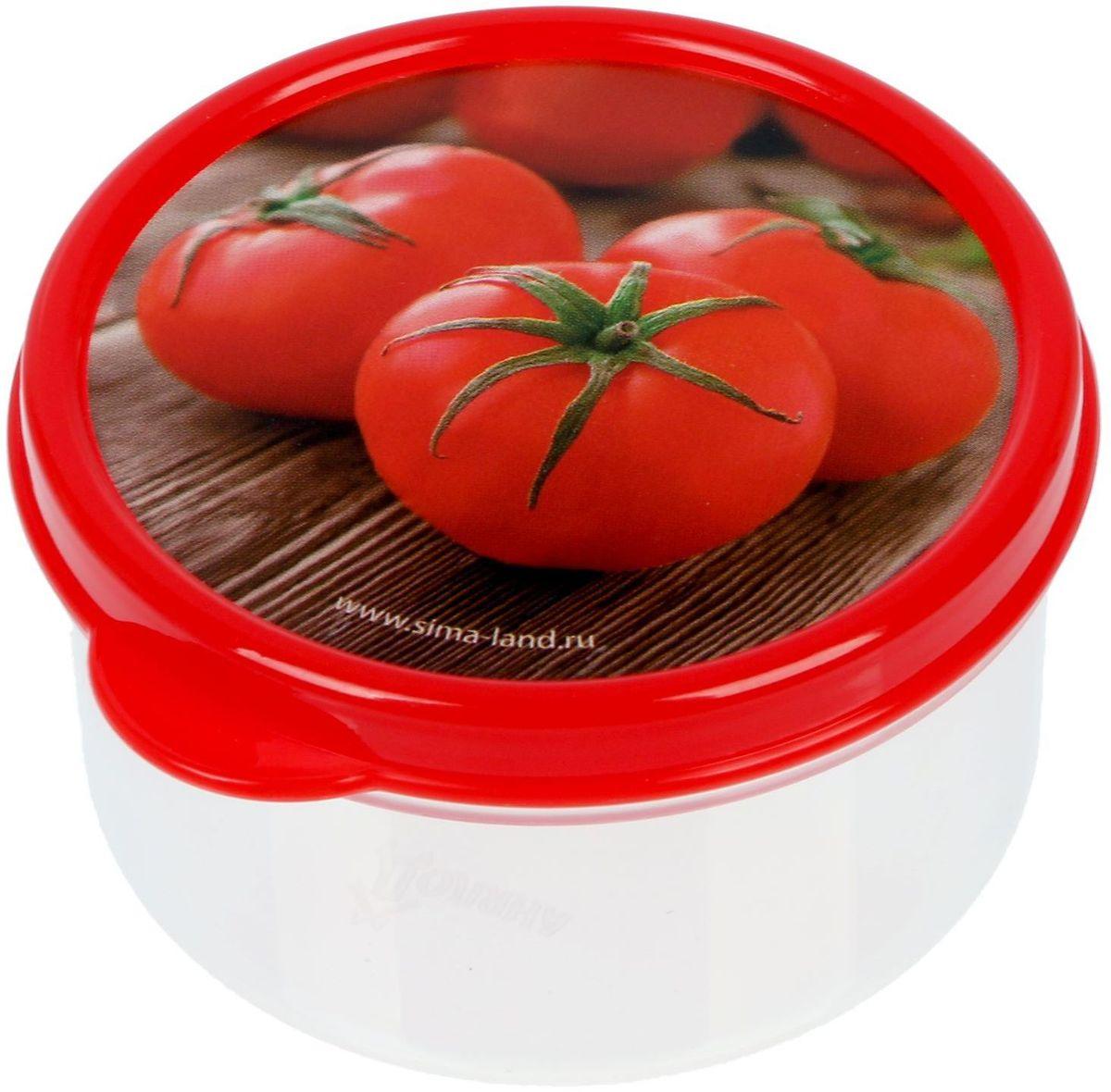 Ланч-бокс Доляна Томаты, круглый, 150 мл1333923Ланч-бокс Доляна изготовлен из прочного пищевого пластика. В комплекте прилагается крышка подходящего размера, которая плотно и надежно закрывается и упрощает процесс транспортировки. Такой контейнер является незаменимым предметом кухонной утвари, ведь у него много преимуществ: Простота ухода. Ланч-бокс достаточно промыть теплой водой с небольшим количеством чистящего средства. Вместительность. Изделие позволяет разместить разнообразные продукты от сахара до супов. Эргономичность. Ланч-боксы очень легко хранить даже в самой маленькой кухне, так как их можно поставить один в другой по принципу матрешки. Многофункциональность. Он пригодится, если после вкусного обеда осталась еда, а насладиться трапезой хочется и на следующий день. Можно использовать не только на кухне, но и для хранения различных бытовых предметов, а также брать с собой еду на работу или учебу. Не использовать пластиковые контейнеры в духовых шкафах и на открытом огне, а также не разогревать в микроволновых печах при закрытой крышке ланч-бокса.