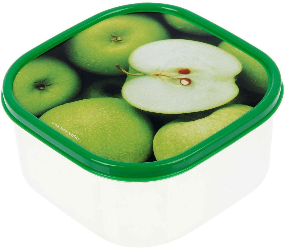 Ланч-бокс Доляна Яблоки, квадратный, 700 мл1333985Ланч-бокс Доляна изготовлен из прочного пищевого пластика. В комплекте прилагается крышка подходящего размера, которая плотно и надежно закрывается и упрощает процесс транспортировки. Такой контейнер является незаменимым предметом кухонной утвари, ведь у него много преимуществ: Простота ухода. Ланч-бокс достаточно промыть теплой водой с небольшим количеством чистящего средства. Вместительность. Изделие позволяет разместить разнообразные продукты от сахара до супов. Эргономичность. Ланч-боксы очень легко хранить даже в самой маленькой кухне, так как их можно поставить один в другой по принципу матрешки. Многофункциональность. Он пригодится, если после вкусного обеда осталась еда, а насладиться трапезой хочется и на следующий день. Можно использовать не только на кухне, но и для хранения различных бытовых предметов, а также брать с собой еду на работу или учебу. Не использовать пластиковые контейнеры в духовых шкафах и на открытом огне, а также не разогревать в микроволновых печах при закрытой крышке ланч-бокса.