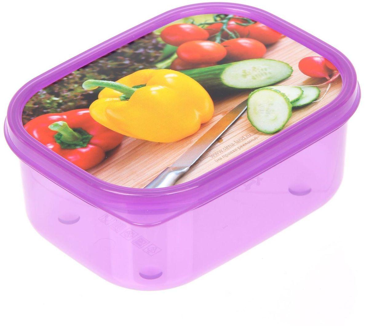 Ланч-бокс Доляна Овощи, прямоугольный, 500 мл1699869Ланч-бокс Доляна изготовлен из прочного пищевого пластика. В комплекте прилагается крышка подходящего размера, которая плотно и надежно закрывается и упрощает процесс транспортировки. Такой контейнер является незаменимым предметом кухонной утвари, ведь у него много преимуществ: Простота ухода. Ланч-бокс достаточно промыть теплой водой с небольшим количеством чистящего средства. Вместительность. Изделие позволяет разместить разнообразные продукты от сахара до супов. Эргономичность. Ланч-боксы очень легко хранить даже в самой маленькой кухне, так как их можно поставить один в другой по принципу матрешки. Многофункциональность. Он пригодится, если после вкусного обеда осталась еда, а насладиться трапезой хочется и на следующий день. Можно использовать не только на кухне, но и для хранения различных бытовых предметов, а также брать с собой еду на работу или учебу. Не использовать пластиковые контейнеры в духовых шкафах и на открытом огне, а также не разогревать в микроволновых печах при закрытой крышке ланч-бокса.