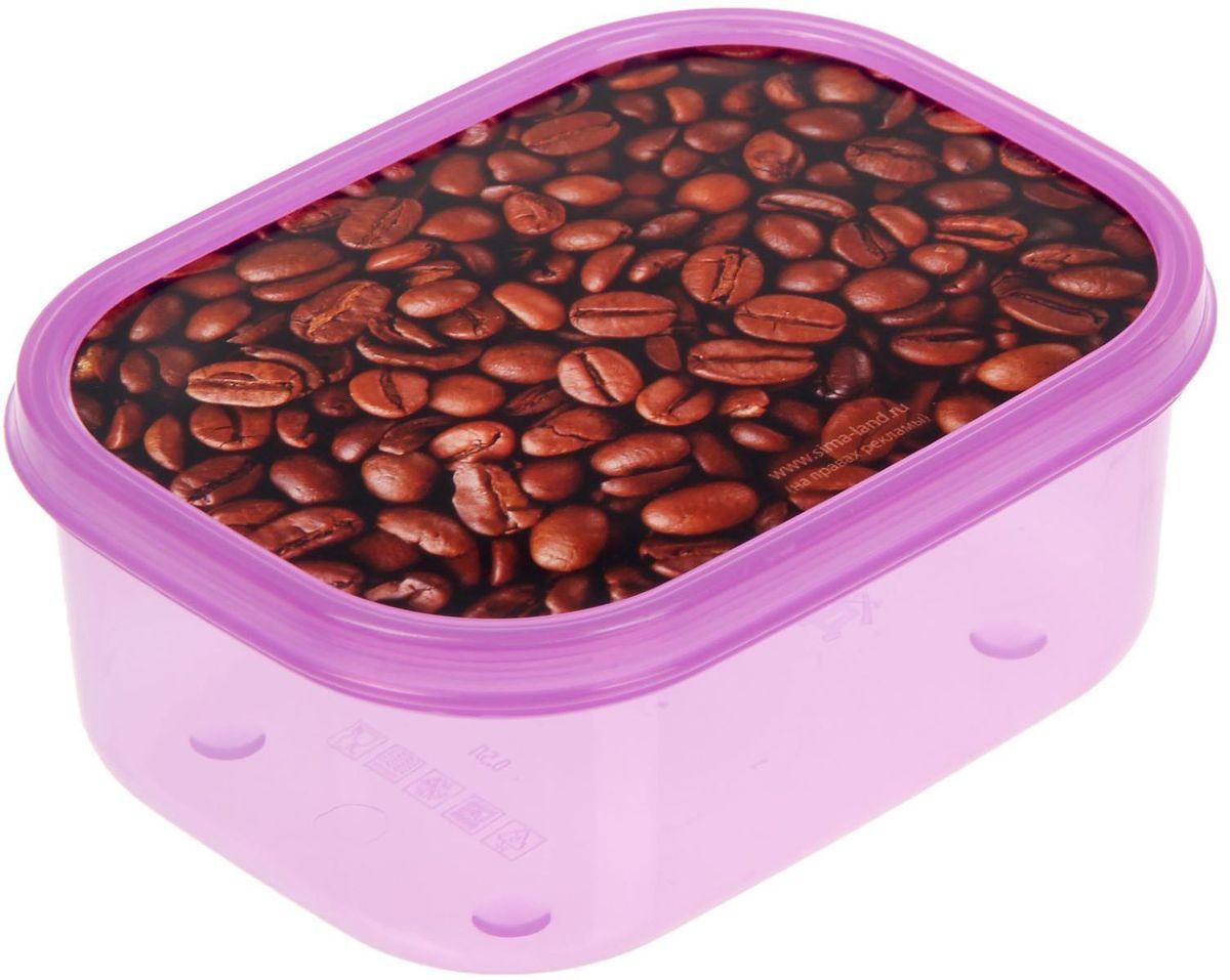 Ланч-бокс Доляна Кофейные зерна, прямоугольный, 500 мл1699876Ланч-бокс Доляна изготовлен из прочного пищевого пластика. В комплекте прилагается крышка подходящего размера, которая плотно и надежно закрывается и упрощает процесс транспортировки. Такой контейнер является незаменимым предметом кухонной утвари, ведь у него много преимуществ: Простота ухода. Ланч-бокс достаточно промыть теплой водой с небольшим количеством чистящего средства. Вместительность. Изделие позволяет разместить разнообразные продукты от сахара до супов. Эргономичность. Ланч-боксы очень легко хранить даже в самой маленькой кухне, так как их можно поставить один в другой по принципу матрешки. Многофункциональность. Он пригодится, если после вкусного обеда осталась еда, а насладиться трапезой хочется и на следующий день. Можно использовать не только на кухне, но и для хранения различных бытовых предметов, а также брать с собой еду на работу или учебу. Не использовать пластиковые контейнеры в духовых шкафах и на открытом огне, а также не разогревать в микроволновых печах при закрытой крышке ланч-бокса.