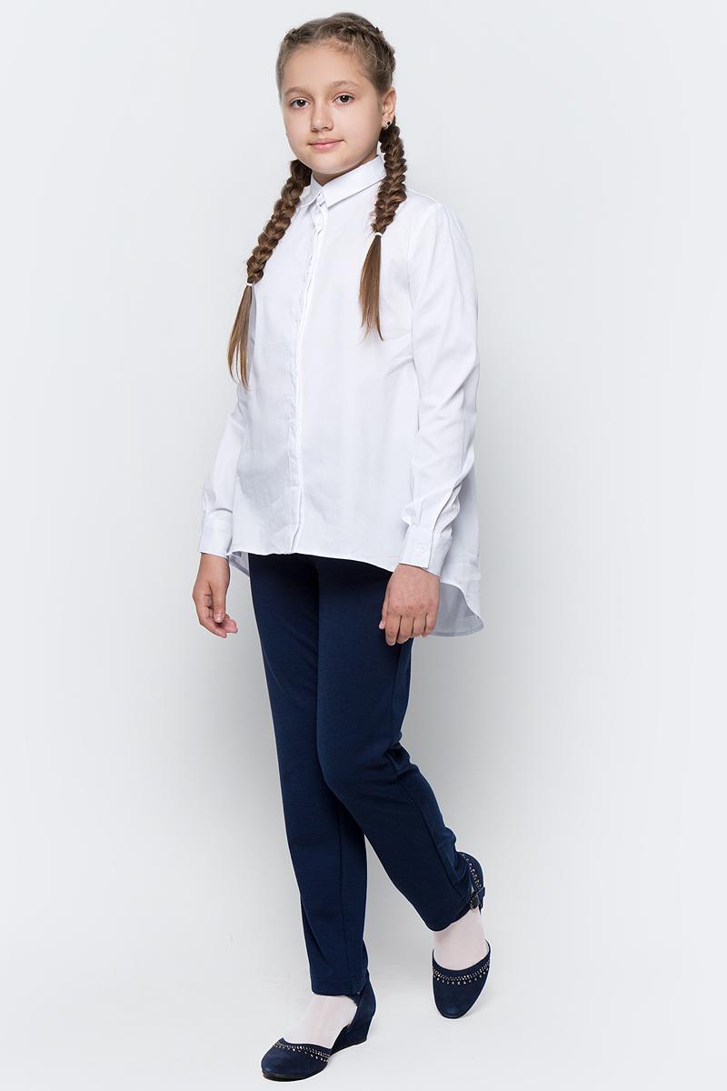 Блузка для девочки Button Blue, цвет: белый. 217BBGS22010200. Размер 128, 8 лет брюки спортивные для мальчика button blue цвет бордовый 217bbbc56031600 размер 128 8 лет
