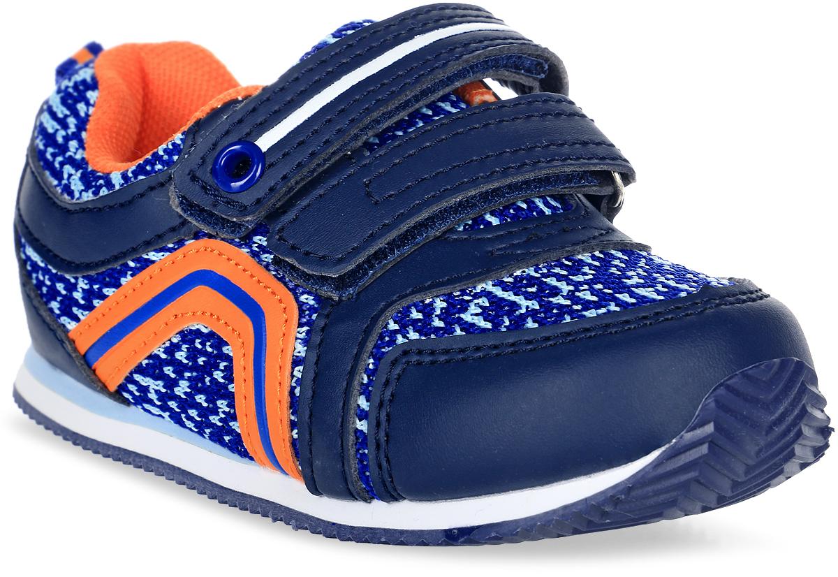Кроссовки для мальчика Tom&Miki, цвет: синий. B-1048-B. Размер 23B-1048-BКроссовки для мальчика Tom&Miki изготовлены из качественной искусственной кожи и текстиля. Внутренняя часть изделия изготовлена из дышащего текстиля, что придает максимальный комфорт во время носки. Стелька из натуральной кожи дополнена супинатором, обеспечивающимправильное положение ноги ребенка при ходьбе и предотвращающим плоскостопие, а удобная шнуровка гарантирует оптимальную посадку модели на ноге. Рифленая подошва обеспечивает надежное сцепление с любой поверхностью и защищает от скольжения во время движения.