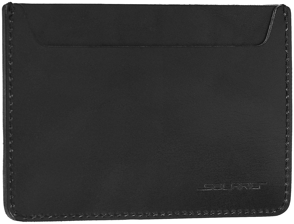 Обложка для автодокументов Solaris, цвет: черный. S8103Натуральная кожаКомпактный многофункциональный чехол для автодокументов с черырьмя отделениями. В чехол помещаются российский паспорт или загранпаспорт, водительские права, техпаспорт автомобиля. Чехол также можно использовать как небольшое портмоне. Чехол выполнен в стиле TRAVEL из натуральной кожи толщиной 2-2,5 мм. Толстая кожа имеет высокую стойкость к износу и надёжно предохраняет содержимое чехла от повреждений. Это особенно важно для сохранности документов в путешествиях и туристических поездках. При использовании чехла для автодокументов/паспорта внутрь помещаются: - паспорт (в среднее отделение); - техпаспорт автомобиля (в лицевой карман); - водительские права и 1 пластиковая карта (в задние карманы). При использовании чехла в качестве портмоне внутрь помещаются:- денежные купюры, сложенные пополам (в среднее отделение);- 2 пластиковые карты (в задние карманы);- 2 дополнительные пластиковые карты или мелкие купюры в сложенном виде (в лицевой карман). Размеры чехла для автодокументов: 147х104 мм.