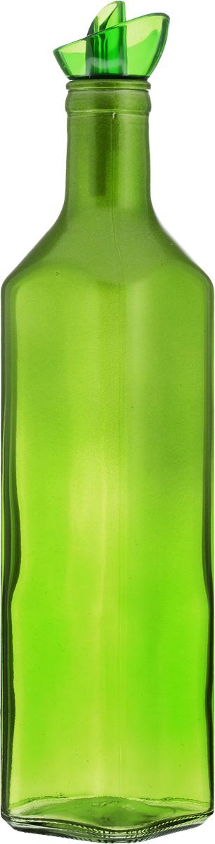Емкость для масла Solmazer, цвет: зеленый, 500 мл155132-000_зеленыйЕмкость для масла Solmazer выполнена из качественного прочного цветного стекла с декоративным сверкающим напылением в верхней части. Она легка в использовании, стоит только перевернуть ее, и вы с легкостью сможете добавить оливковое или подсолнечное масло, уксус или соус. Емкость оснащена силиконовой пробкой с пластиковым дозатором. Пробка плотно закрывает горлышко, благодаря этому внутри сохраняется герметичность, и содержимое дольше остается свежим. Диаметр горлышка: 3 см.Размер основания: 6 х 6 см.Высота емкости: 27 см.