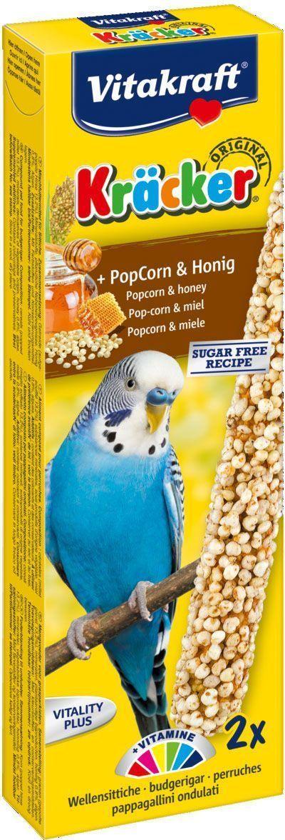 Крекеры для волнистых попугаев Vitakraft, злаковые, 2 шт корм для птиц vitakraft menu vital для волнистых попугаев основной 1кг