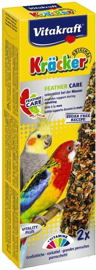Крекеры для средних попугаев Vitakraft, при линьке, 2 шт корм для птиц vitakraft menu vital для волнистых попугаев основной 1кг