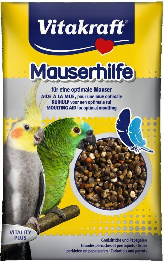 Подкормка для попугаев Vitakraft, в период линьки, 25 г веселый попугай отборное зерно для средних попугаев 450 г