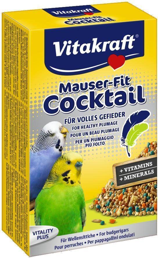 Коктейль для волнистых попугаев Vitakraft, в период линьки, 200 г21876Сбалансированное дополнение к основному корму поддерживает здоровье и укрепляет иммунитет. Содержит жизненно важные витамины и минералы, а также метионин для здорового и полноценного оперения. Состав: зерно, минеральные вещества, пекарские добавки, семена, дрожжи, молоко, сахар, мед, жиры, масла. Товар сертифицирован.