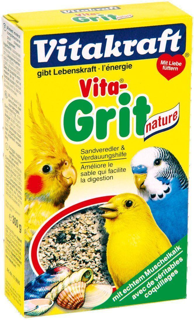 Песок для птиц Vitakraft Vita Grit Nature, 300 г11005Натуральный биопесок для птиц Vitakraft Vita Grit Nature высшего качества гарантирует: - птичью клетку без микробов, - приятный запах аниса и цитруса, - улучшает пищеварение, - регулирует обмен веществ, - отличное впитывание жидкости, - улучшает рост перьев. Применение: подсыпайте песок несколько раз в неделю, по крайней мере, 2-3 раза, чтобы предоставить вашим животным чистый без запаха дом и сделать основные минералы доступными в любое время.