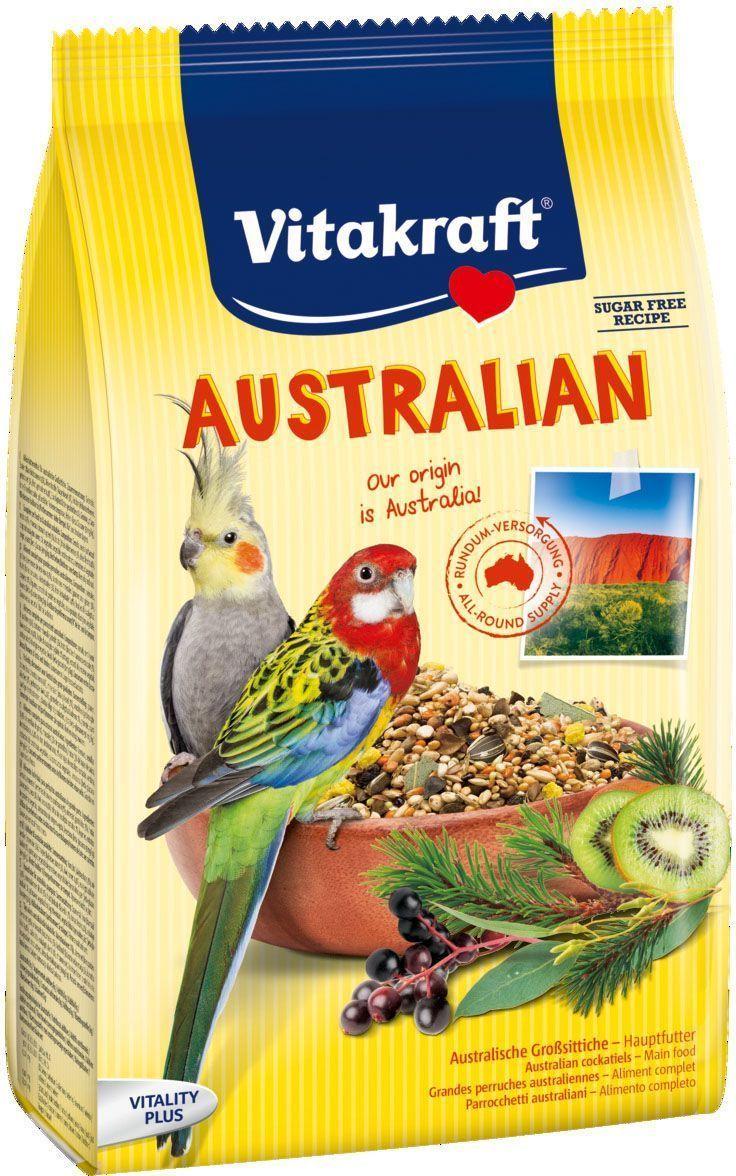 Корм для средних попугаев Vitakraft Australian, 750 г корм вака high quality для средних попугаев 500 гр