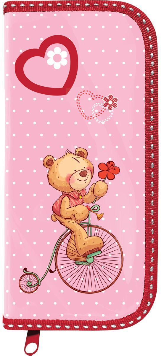 Brauberg Пенал Мишка103708Пенал Brauberg предназначен для детей 7-10 лет и содержит одно отделение. Выполнен в красно-розовом цвете и украшен изображением медвежонка.Поставляется без наполнения.