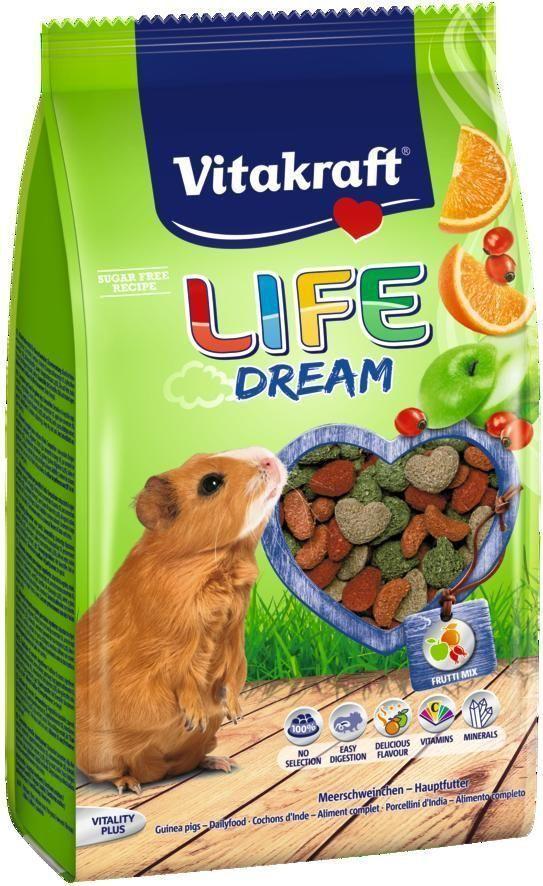 Корм для морских свинок Vitakraft Life Dream, 600 г корм для птиц vitakraft menu vital для волнистых попугаев основной 1кг