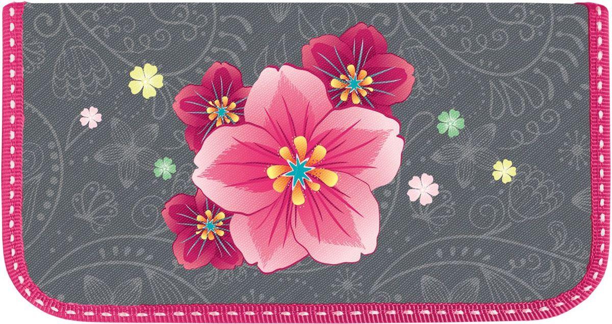Brauberg Пенал Цветок104356Пенал Brauberg предназначен для детей 7-10 лет. Изготовлен из ламинированного картона, имеет два отделения на застежках-молниях. Яркий оригинальный принт придется школьникам по душе.Поставляется без наполнения.