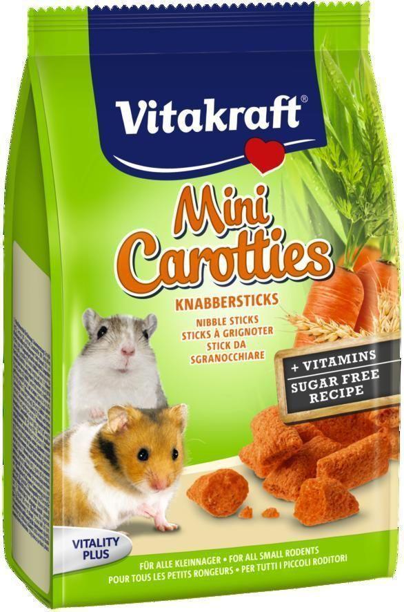 Лакомство для мелких грызунов Vitakraft, подушечки с морковью, 50 г корм для птиц vitakraft menu vital для волнистых попугаев основной 1кг
