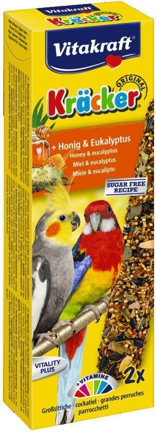 Крекеры для австралийских попугаев Vitakraft, медовые, 2 шт корм для птиц vitakraft menu vital для волнистых попугаев основной 1кг