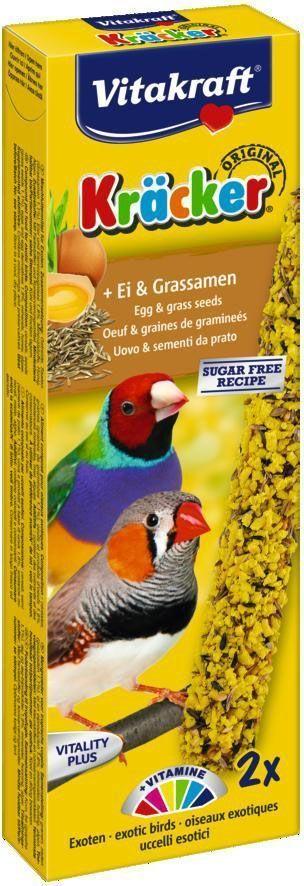 vitakraft крекеры яичные 2шт для экзотических птиц 14989 Крекеры для экзотических птиц Vitakraft, яичные, 2 шт