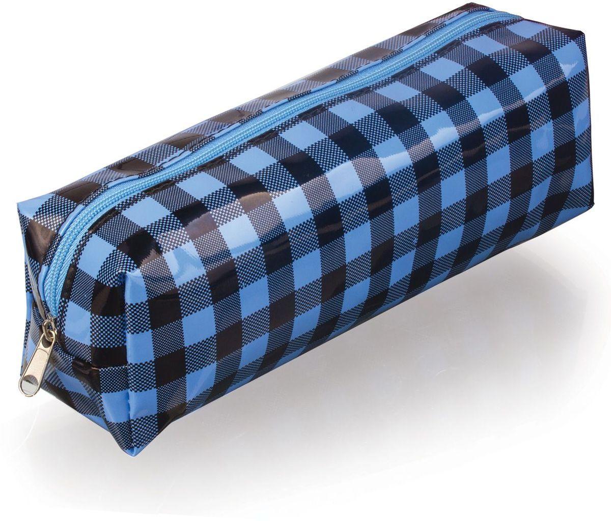 Brauberg Пенал-косметичка Клетка223271Удобный, легкий и вместительный пенал-косметичка. Клетка в черно-голубых тонах выглядит оригинально и стильно.•1 отделение. •Материал - ПВХ. •Размер: 20х6х5 см.