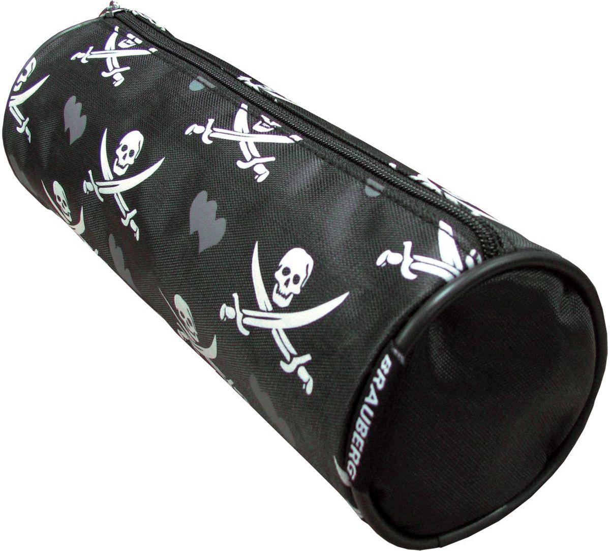 Brauberg Пенал-косметичка Пираты223273Удобный, легкий и вместительный пенал-косметичка украшен популярным принтом в виде пиратской символики.