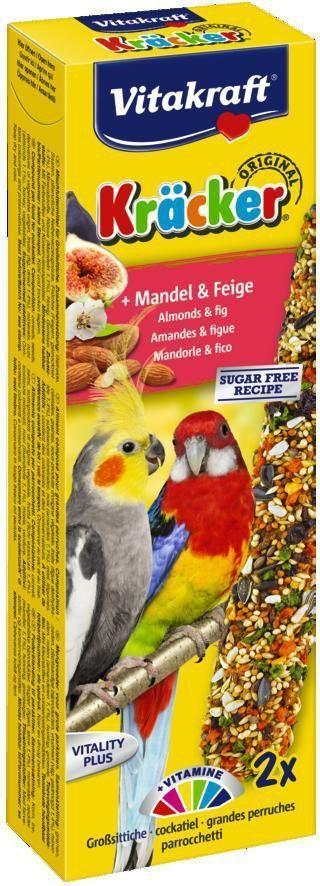Крекеры для австралийских попугаев Vitakraft, фруктовые, 2 шт10615Питательный крекер, обогащенный витаминами. Стимулирует процессы роста, защищает кожу, регулирует обменные процессы, влияет на остроту зрения. Мотивирует птицу самостоятельно добывать себе зерно, как в дикой природе. Состав: зерно, фрукты, минералы, лецитин, мед. Добавки на 1 кг продукта: кальций - 1,32 г, фосфор - 0,57 г, витамин Е, витамин А, витамин D3, витамин С, фруктоза. Пищевая ценность на 100 г продукта: протеин - 12,1 г, жиры - 8,1 г, клетчатка - 9,7 г, зола - 6,7 г. Товар сертифицирован.