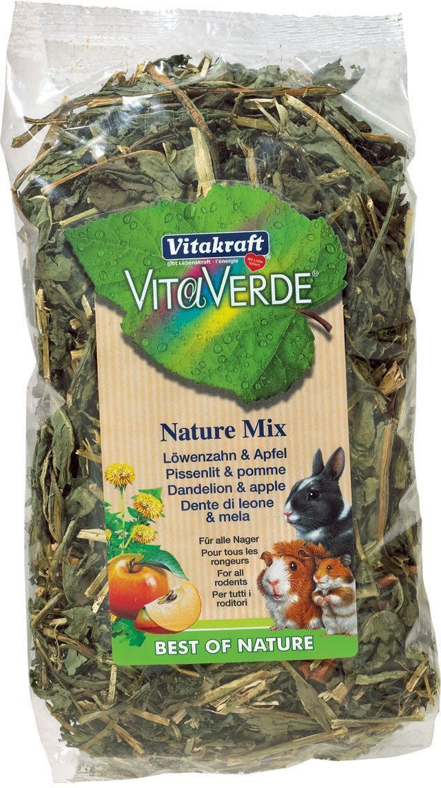 Лакомство для грызунов Vitakraft Vita Verde, с одуванчиком и яблоком, 80 г корм для птиц vitakraft menu vital для волнистых попугаев основной 1кг