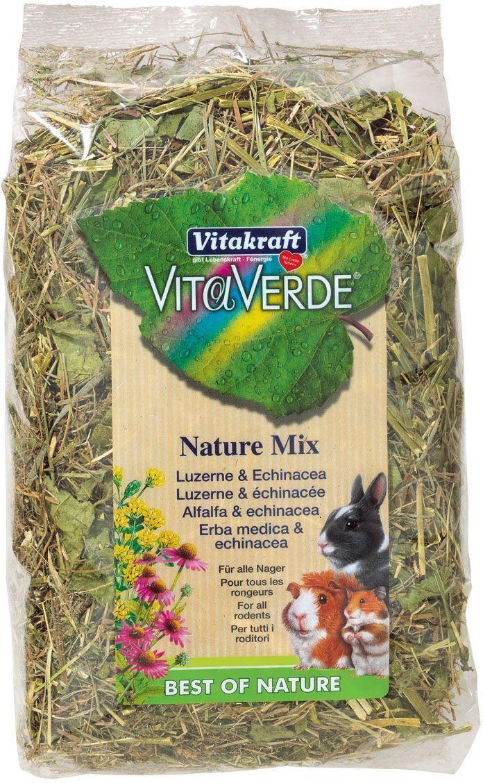 Лакомство для грызунов Vitakraft Vita Verde, с люцерной и эхинацеей, 125 г камень для грызунов vitakraft sel plus соляной