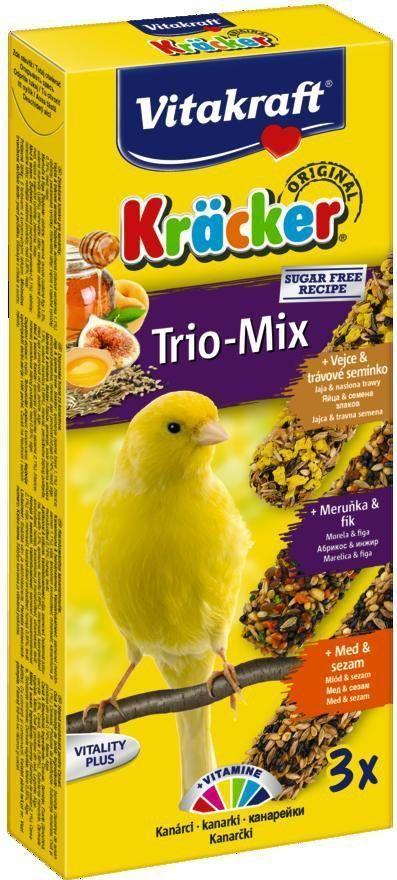 Крекеры для канареек Vitakraft, с медом, яйцом и фруктами, 3 шт корм для птиц vitakraft menu vital для волнистых попугаев основной 1кг