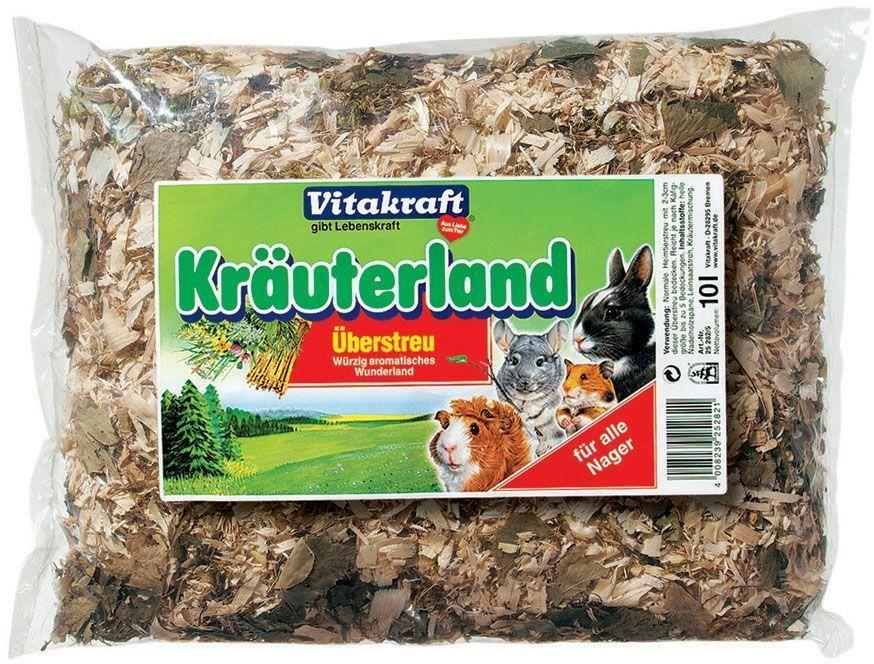 Субстрат для грызунов Vitakraft, травы, хвоя, 10 л камень для грызунов vitakraft sel plus соляной