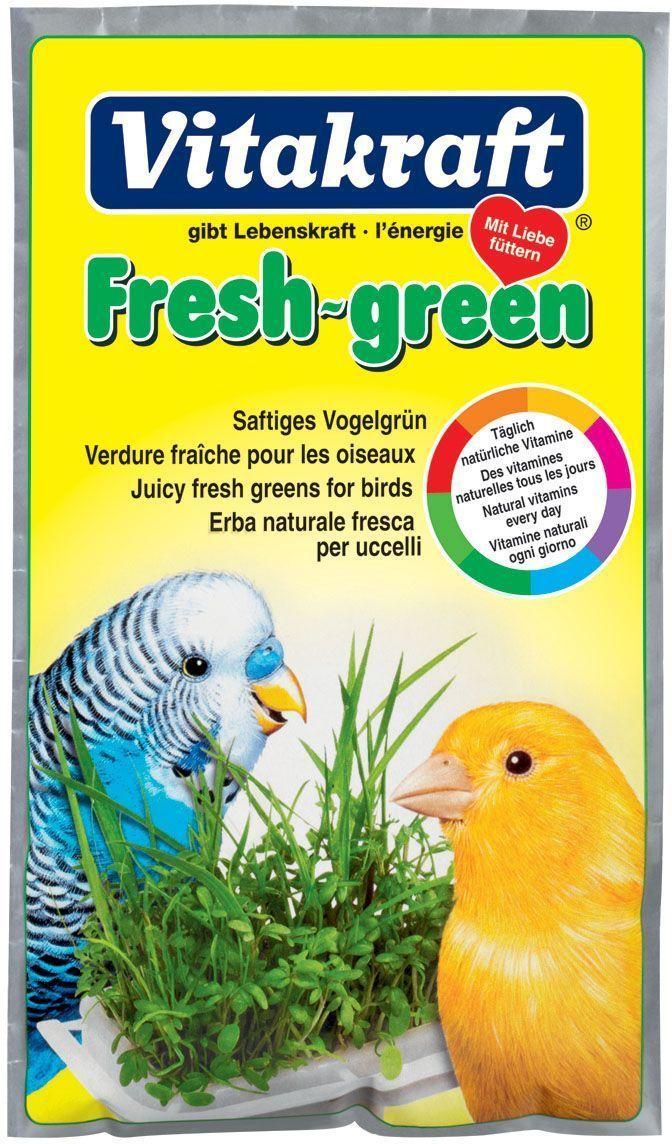 Смесь для проращивания свежей травы Vitakraft, для волнистых попугаев и канареек, 40 г корм для птиц vitakraft для волнистых попугаев 800г