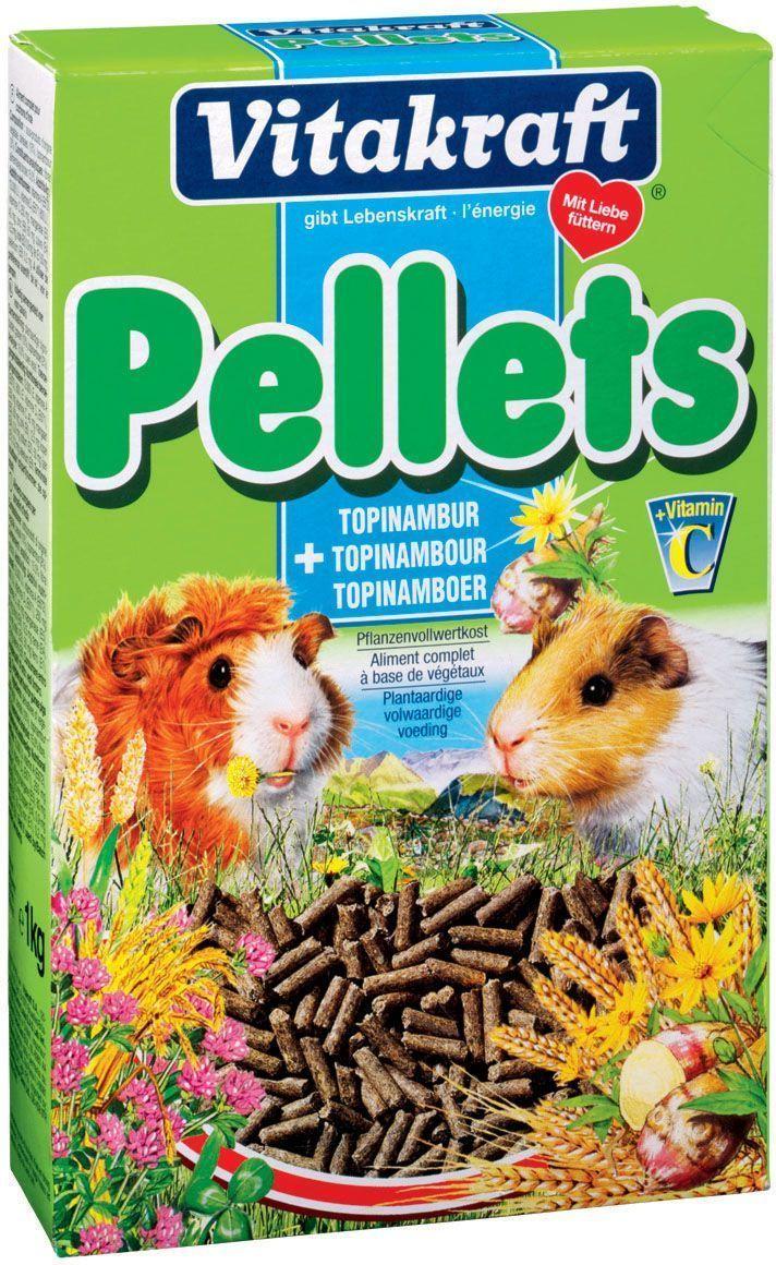 Корм для морских свинок Vitakraft Pellets, 1 кг25248Основной корм для морских свинок с добавлением топинамбура, содержащего инулин для поддержания оптимального пищеварения, с жизненно важными витаминами и сырой клетчаткой. Гранулы дополнительно обогащены витамином С. Состав: продукты растительного происхождения, зерно 10%, топинамбур 2%, витамины A, D3, C, минералы. Товар сертифицирован.