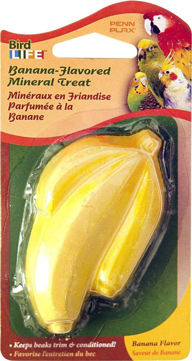 Камень для птиц Penn-Plax Banana, минеральный, 1 штBA619Минеральный камень для птиц Penn-Plax Banana является источником кальция и минералов. Способствует поощрению естественных инстинктов клевания и заточке клюва. Также является красочным и привлекательным дополнением к клетке.